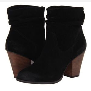 Chinese Laundry Black Suede Slouchy Ankle Boot